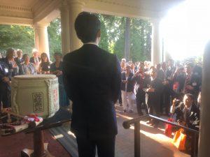 ワシントン州知事公邸でのレセプションで福寿を楽しんでいただきました