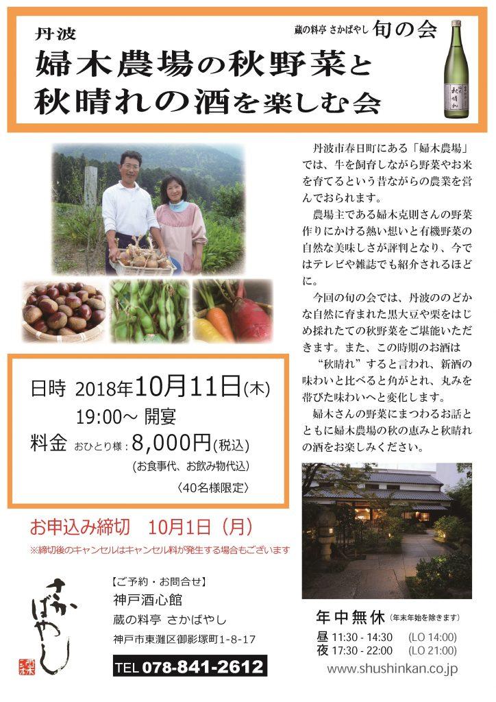 (2018.10.11) 丹波 婦木農場の秋野菜と秋晴れの酒を楽しむ会