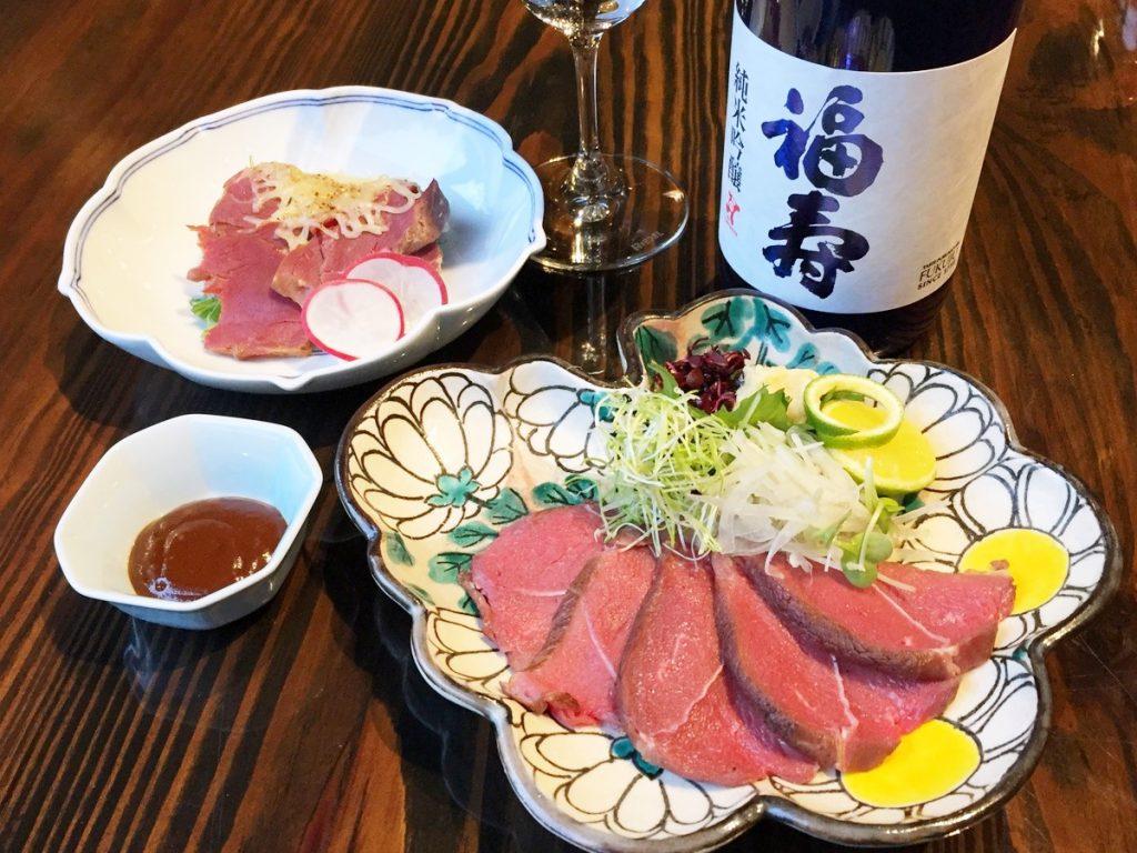<ノーベル賞受賞記念>鹿肉料理と純米吟醸のペアリング