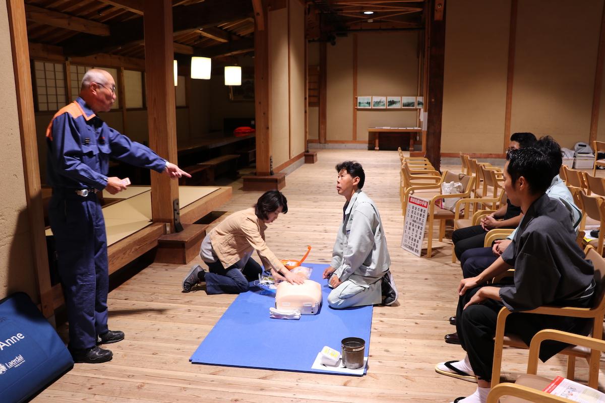 救急救命についての実習を行いました