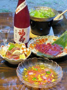 おじろ鹿料理・コウノトリ米原酒ひやおろし01as