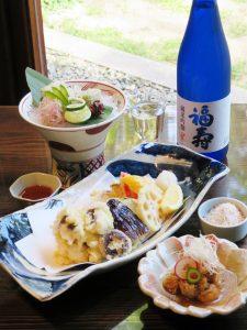 鱧の天ぷら・鱧の焼き霜造り・鱧の南蛮漬け・純米吟醸01es